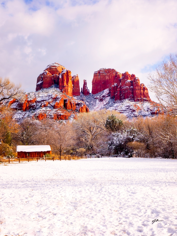 323 Snowy Cathedral Rock - Sedona - Arizona
